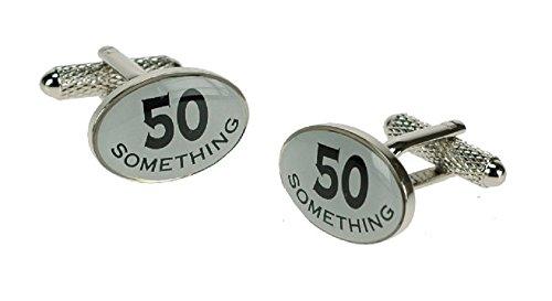 Onyx-Art London 50 quelque chose 50e anniversaire Boutons de manchette dans une boîte cadeau Ck307