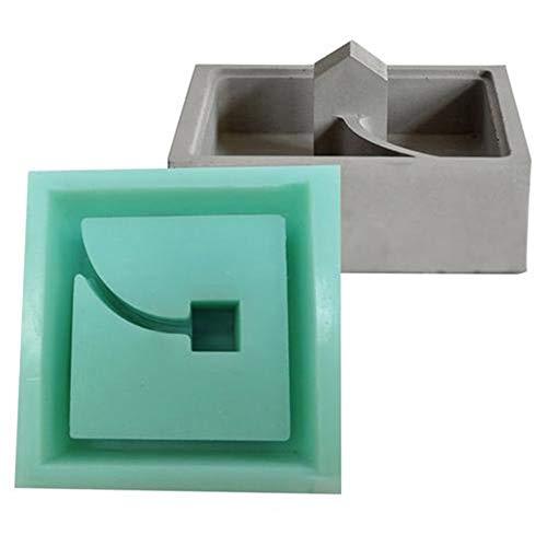 Betonmoos Mini kleines Haus Muti-Fleisch Blume Pflanzer Form Desktop Dekoration Zement Silikonformen