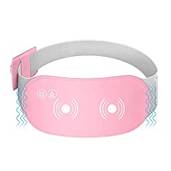 Portable Electric Heating Pad for Cramps,Menstrual Heating pad,Lower Back Pain Relief USB Infrared Warming Waist Belt,3 Temperature 6 Massage Settings with Auto Shut Off (Pink-Massage)