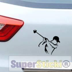 SUPERSTICKI Golfer golfen ca 15 cm Tuning Racing Rennsport Renndecal Aufkleber Sticker Decal aus Hochleistungsfolie Aufkleber Autoaufkleber Tuningaufkleber Racingaufkleber Rennaufkleber Ho