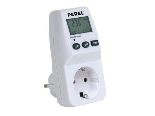 PEREL - E305EM5-G Energiekosten Messgerät 230V/16A, Schutzkontakt 141996