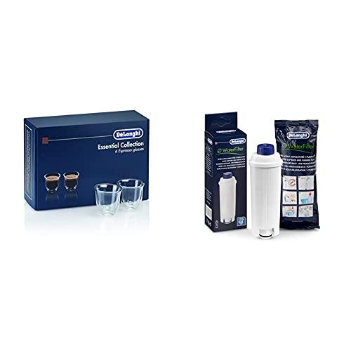 DE LONGHI SET DLSC 300 & De'Longhi Original Wasserfilter DLSC002 - Zubehör für De'Longhi Kaffeevollautomaten, für die Pflege der Maschine, optimiert die Kaffeequalität und schützt vor Kalk, weiß