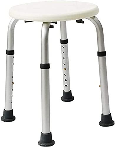 WECDS Taburete de ducha con capacidad de carga de seguridad de 158 kg, 8 altura ajustable, para interior o exterior, perfecto para silla de ducha de ancianos