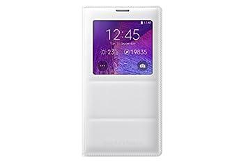 Samsung Galaxy Note 4 Case S View Flip Cover Folio Case - White