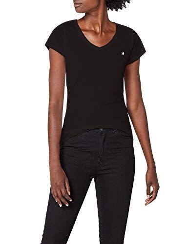 G-STAR RAW Damen Eyben Slim V T Wmn S/S T-Shirt, Schwarz (Black 990), 34 (Herstellergröße:XS)