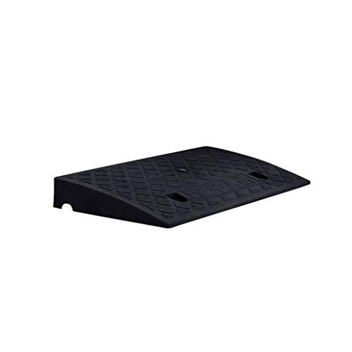 Le rampe interne, Luce antiscivolo Triangolo Pad motociclo della bicicletta in salita Mat Patio Giardino Passo Rampe Formato: 50 * 22 * 5cm (Color : Black)