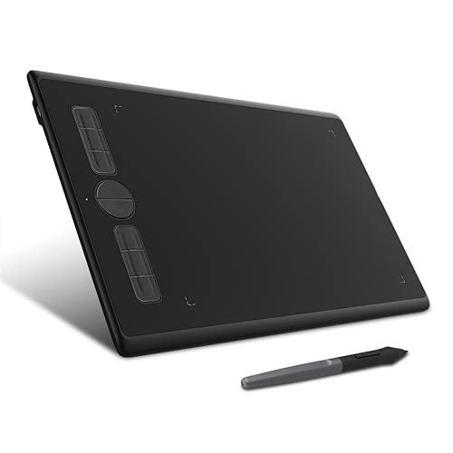 Xyfw Tabletas Digitales De Dibujo Gráfico 8 X 5 Pulgadas Tableta Digital Artística para Dibujar Sin Batería PW100 Pen 8 Shortc