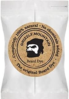 Grizzly Mountain Beard Dye - Organic & Natural Light Brown Beard Dye