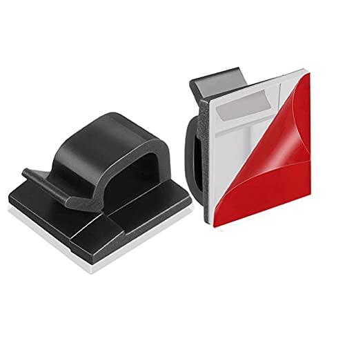 HUSHUI Clips para Cables autoadhesivos, Soportes para Cables sin Perforaciones, Organizador de Cables de plástico para el hogar Creativo para Cargar el Cable de Red