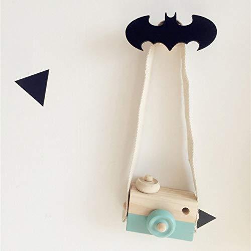 Versier LKU Massief houten haak kinderkamerdecoratie muurhaak Batman ster raket bliksem kerstboom, 8