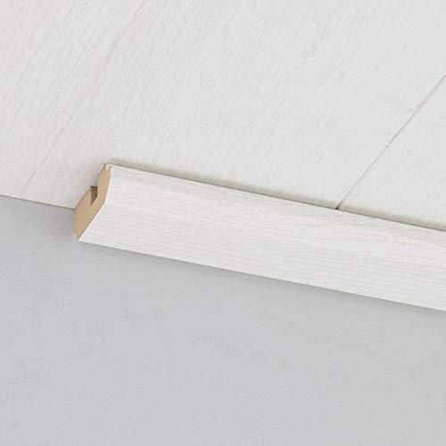 Paneel-Abschlussleiste Abdeckleiste mit Schattenfuge aus MDF in Struktur weiß 2600 x 35 x 17 mm