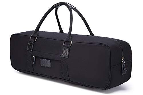 Boence Bolsa de yoga, lona impresa grande para esterilla de yoga, bolsa de almacenamiento para deporte, gimnasio, tamaño 27 x 8 x 8 pulgadas (negro)