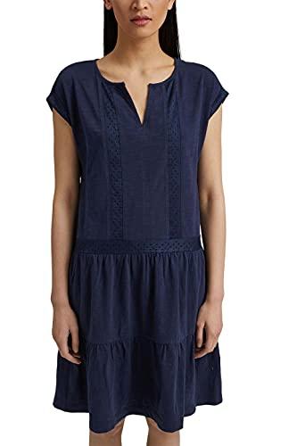 ESPRIT Damen 051EE1E321 Kleid, 400/NAVY, M