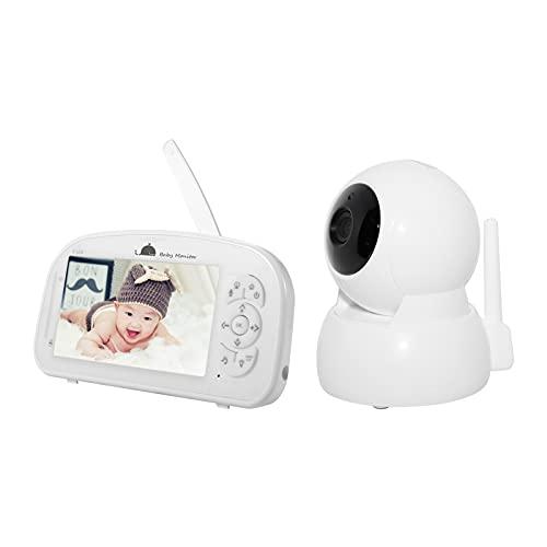 Duotar Câmerade Bebê,de bebê sem fio 2.4G 1080Pde vídeo com câmera digital com tela LCD grande de 5 polegadas, luz noturna de microfone embutido, alto-falante compatível com conversas bidirecionais /