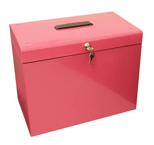 Cathedral - Caja archivadora de metal, A4, color rosa