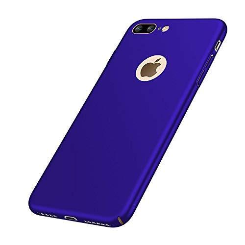 VELLYOU [2-en-1 iPhone 7 Plus Ultra-Delgado Matte Funda + Regalo [Protector de Pantalla ], Case Cover 360°para Apple7 Plus,5.5', Azul