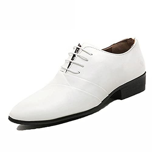 Zapatos de Cuero de Negocios para Hombre Impermeables Antideslizantes con Cordones Zapatos...