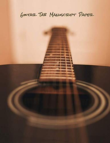 Guitar Tab Manuscript Paper: blank sheet music book / guitar tab sheet /sheet music paper 8.5 x 11 (Guitar cover Vo.1)