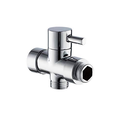 LXH-SH Das elektromagnetische Ventil Badezimmer Doppel Outlet Eckventil G1 / 2 Wand befestigter massivem Messing Duschkopf-Toiletten-Wannen-Bassin Bidet Sprayer Wasser Eckventil Industriebedarf