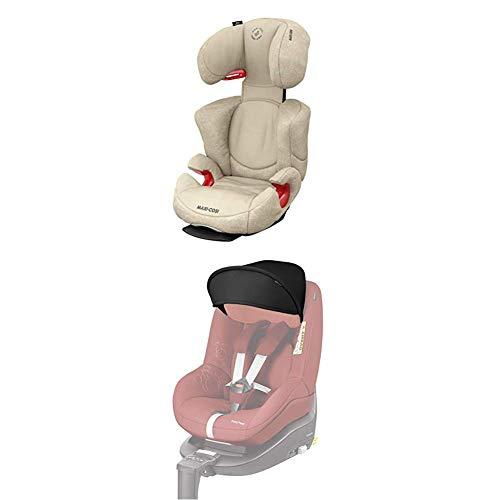 Maxi-Cosi Pearl Smart Kinderautositz, rückwärts & vorwärtsgerichtetes Fahren möglich, black diamond, Gruppe 1 (9-18 kg) + Sonnenverdeck, black (schwarz)