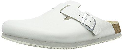 Birkenstock Schuhe Boston SL Naturleder Schmal White (060136) 44 Weiss