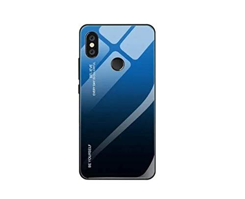 Capa Case Capinha Vidro Color Glass Azul Xiaomi Mi Mix 2s
