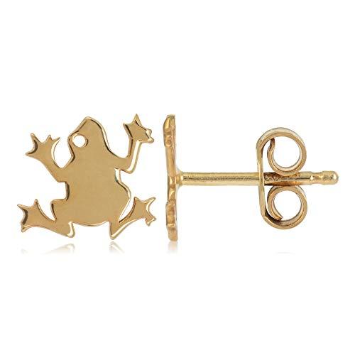 Córdoba Jewels | Pendientes en plata de ley 925 bañada en oro con diseño Rana Gold