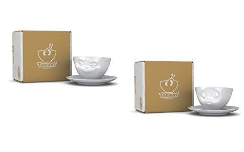 Fiftyeight Kaffeetassen Set, 2-er Set grinsend + küssend, TV Tassen