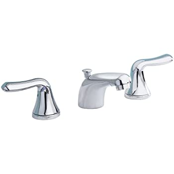American Standard 7881.732.295 Hampton Two-Lever Handle Widespread Lavatory Faucet with Metal Speed Connect Pop Up Drain Satin Nickel 7881732.295