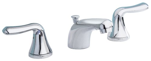 American Standard 3875.501.002 Colony Soft Double-Handle Widespread Lavatory Faucet with Lever Handles and Pop-Up, Polished Chrome
