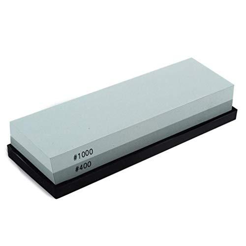 Piedra de Cuchillo de Cocina para el hogar con Base Antideslizante de Silicona y diseño de ángulo de Base (Gris 400/1000)