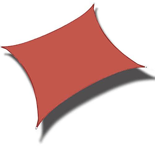 QINZC Toldo Vela De Sombra Cuadrado 2x2m Toldos Impermeables Exterior Toldo Vela Parasol 90% Resistente UV Transpirable Resistente para JardíN Patio Terraza BalcóN Exteriores,Rojo