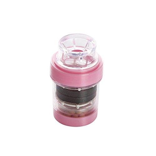 Filtro de Grifo OUNONA Purificador de Agua para Cocina Baño (Rosa)