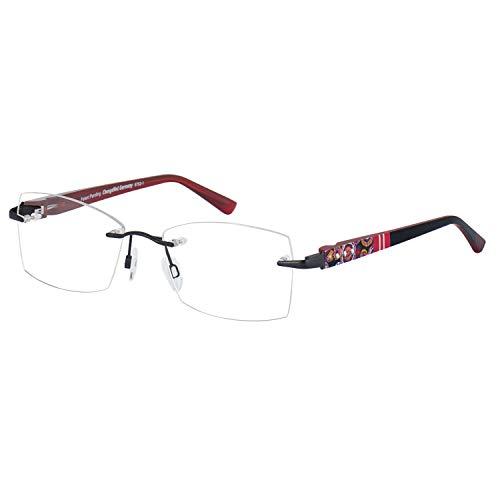 Change Me randlose Brille 2532-1 mit Wechselbügel 8762-1 schwarz rot