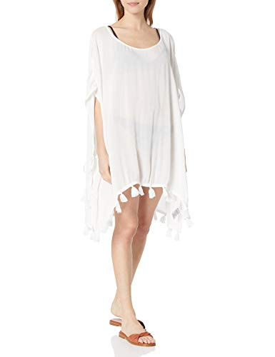 Roxy Damen Make Your Soul Poncho Cover Up Bademodeüberzug, Bright White, XS/S