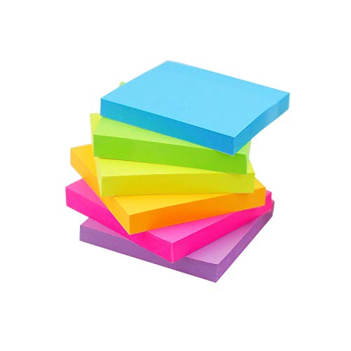 Early Buy Sticky Notes 6 Bright Color 6 Pads SelfStick Notes 3 in x 3 in 100 Sheets/Pad