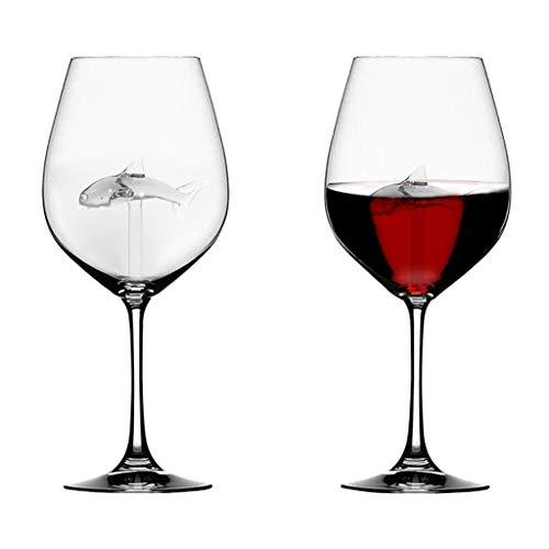 redreamsky Dolphin Weinglas rot für das Haus Flute Kristall Dekoration für Festival Romantik Glas,...