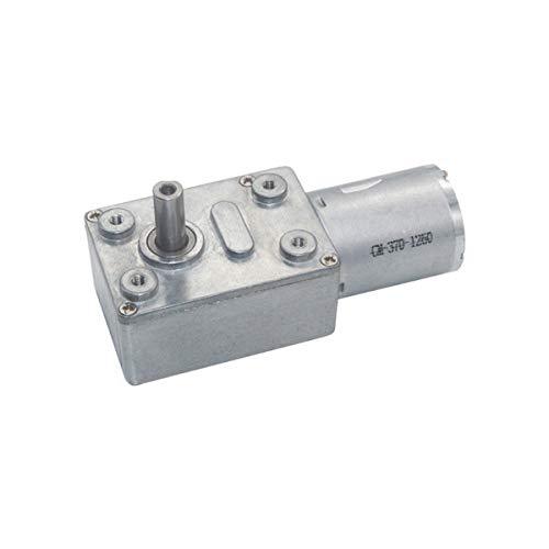 Elektromotor 12V DC12V Schneckengetriebe 2RPM bis 375RPM Untersetzung getriebemotor Niedrige Geschwindigkeit 370 Serie Reversible Hohes Drehmoment 6mm durchmesser kupplung (DC12V 2RPM)