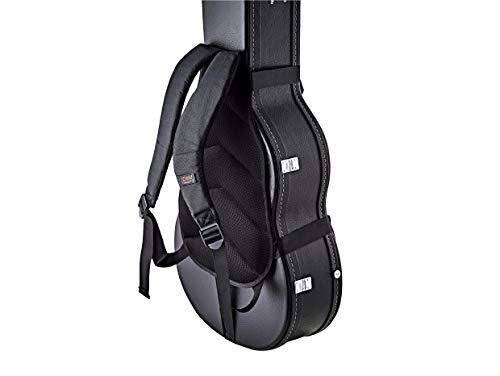 Ortega Guitars Hardshell Case Deluxe Backpack Straps w/Ergonomic Back Cushion-Carry Your Hardcase Like a Gig Bag-Black (OBPS-DLX)