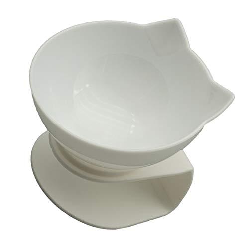 Bol enfant Non-Slip Double Cat Bowl Dog Bowl avec bol for chats stand Pet alimentation Cat eau nourriture for animaux bols for chiens Feeder fournitures de produit bol blender (Color : White singel)