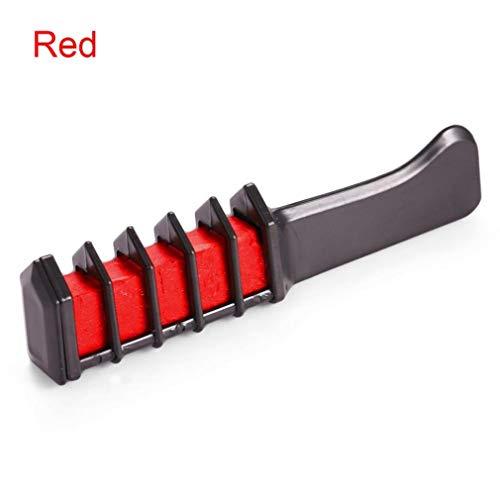 Kinshops Disposable Women Hair Dye Mascara Dye Hair Color Chalk with Comb Temporary Hair Mascara Dye Accessories Red