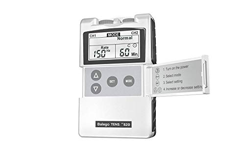 Balego TENS Machine Digital 100mA Edition with Kit, Placement Chart and 5 Therapy Modes for Pain Relief