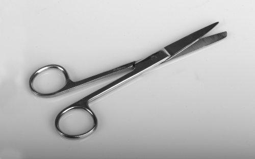 "Medline Industries DYNJ04053 Scissors, Sharp/Blunt, Straight, 4.5"" (Pack of 50)"