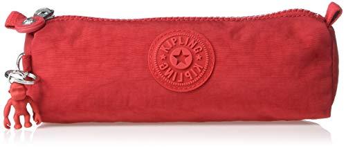 "Kipling Freedom Pencil Case, Red Rouge, 8.25""L x 2.5""H x 2.5""D"