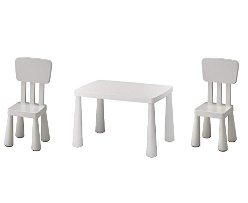 IKEA MAMMUT TAVOLO E 2 SEDIE BIANCO