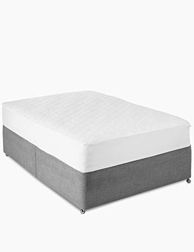 Natural Cotton Quilted Mattress Protector (Double Size_137X190X30)