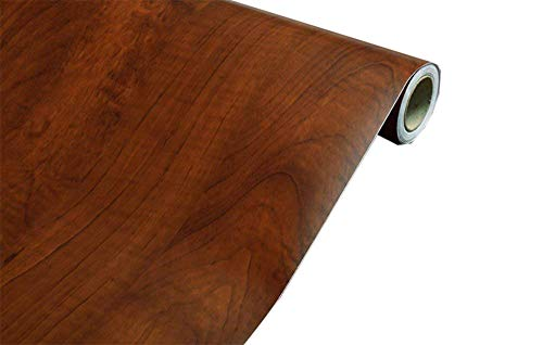 Faux Wood Grain Contact Paper Self Adhesive Shelf Liner Covering for Kitchen Cabinets Doors Drawers Countertop Arts and Crafts 235x169 Inch