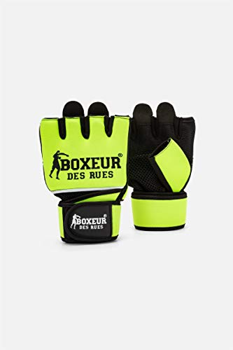 guanti fit boxe BOXEUR DES RUES - Guanti Fit Boxe Gialli In Neoprene Con Inserti In Mesh