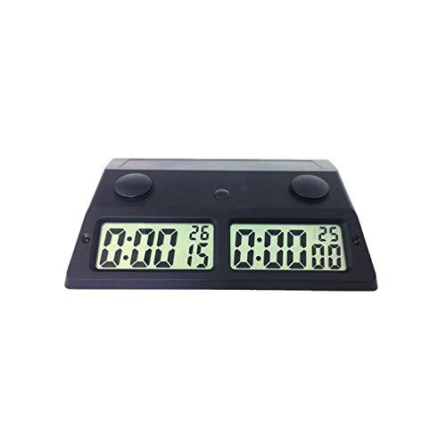 BaoYPP Temporizador de Ajedrez Alarma electrónica Temporizador de Temporizador Relojes de ajedrez Profesional Portátil Digital Junta de ajedrez Competito Juegos de ajedrez Fácil de Usar