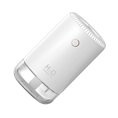 HEALLILY Mini Humidificadores de Aire 370Ml Vaporizador USB de Escritorio con Difusor de Niebla de Luz LED Purificador de Aire Difusor de Aceite Esencial para Coche de Oficina